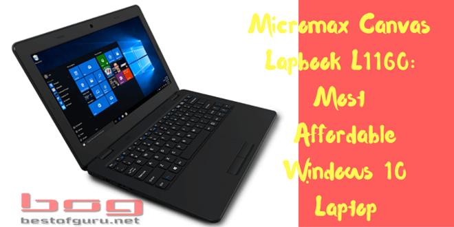 Micromax Canvas Lapbook L1160