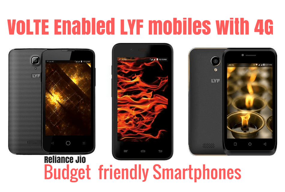 VoLTE Enabled LYF mobiles with 4G