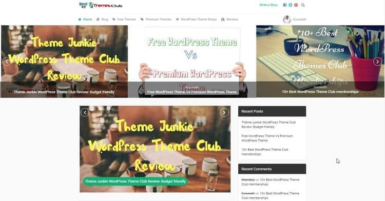 MyBlog WordPress Theme - MTS - Main Page