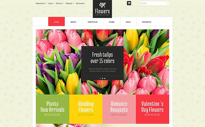 Flower Shop Ecommerce Themes