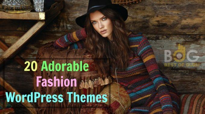 Something for Your Inspiration: 20 Adorable Fashion WordPress Theme