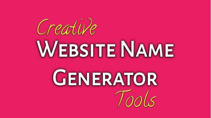 7 Creative Website Name Generator Online tools